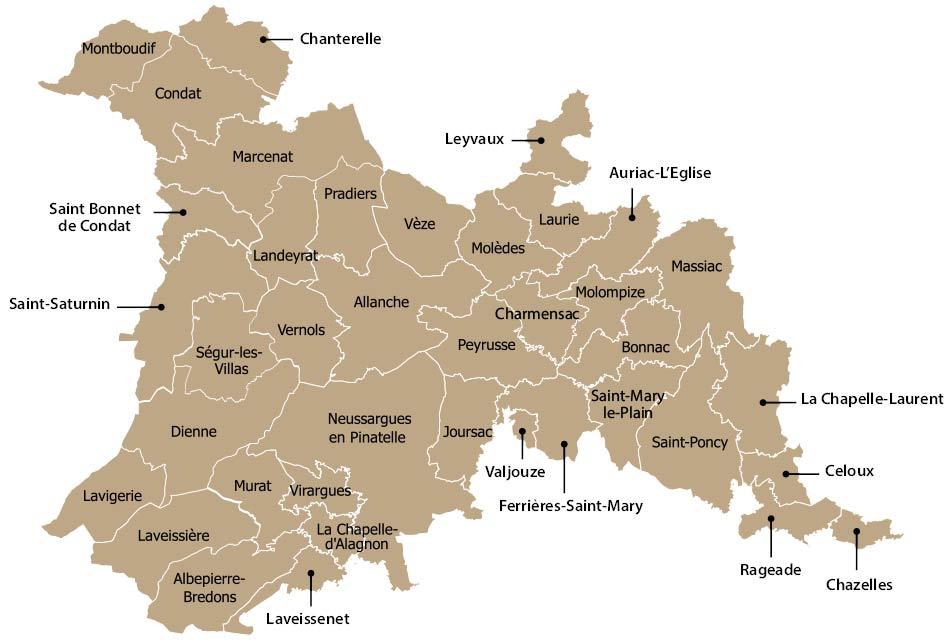 Les communes de Hautes Terres Communauté